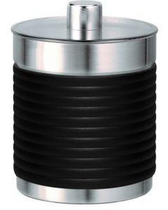 MS 3654, MS 479 CB Edelstahlbecher schwarz mit Deckel