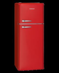 Bomann Retro-Doppeltür-Kühlschrank DTR 353.1 rot
