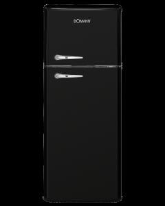 Bomann Retro-Doppeltür-Kühlschrank DTR 353 schwarz-glänzend
