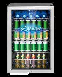 Bomann Glastür-Kühlschrank KSG 7284.1 schwarz