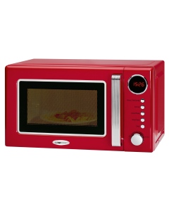 Clatronic Retro-Mikrowelle mit Grill MWG 790 rot