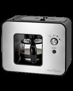 ProfiCook Kaffeeautomat mit Schlagwerk PC-KA 1152 edelstahl/schwarz