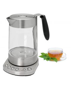 ProfiCook Glas Tee Wasserkocher 2 in 1 PC-WKS 1020 G edelstahl/schwarz