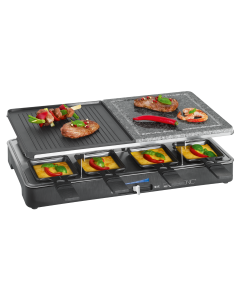Clatronic 2-in-1 Raclette-Grill RG 3518 schwarz
