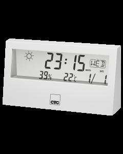 CTC Wetterstation mit Uhr WSU 7022 weiß